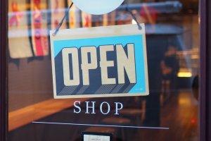 winkelpresentatie open