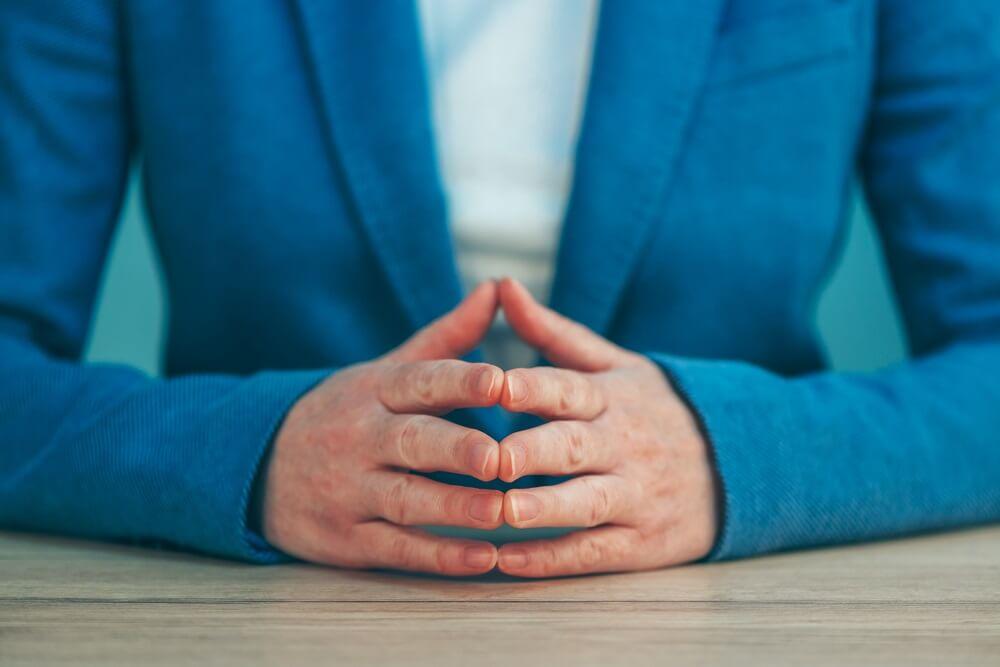 Lichaamstaal kantoor handen